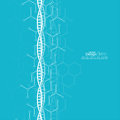 Abstract background with DNA molecule structure Royalty Free Stock Photo