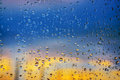Abstract background. Drops of water on the window. Royalty Free Stock Photo