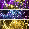 Abstract background with fantasy bokeh texture purple neon and golden. Fashionable Set of three Christmas background Royalty Free Stock Photo