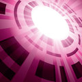 Abstract vector background with flash in perspective Royalty Free Stock Photo