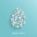 Abstract background with floral easter egg trendy design template Royalty Free Stock Photos