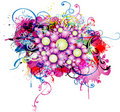 Abstract background with floral element Stock Photography