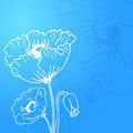 Abstract background of flowers poppies a place in the text vector illustration for ethnic creative design projects Royalty Free Stock Photography