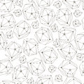 Abstract background with framework crystals. Seamless geometry pattern for textile, wallpaper, wrapping paper, web. Royalty Free Stock Photo