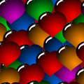 Abstract background with glass multicolor hearts Stock Photography