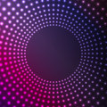 Abstract background of glowing circles flickering design circumferences Stock Images