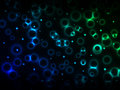 Abstract background with glowing rings Royalty Free Stock Photo