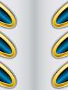 Abstract background with gold trimming and blue Royalty Free Stock Photography