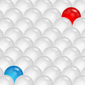 Abstract background of gray and blue and red spheres abstraction of the balls Stock Photos