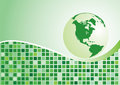 Abstract background. Green globe Stock Image
