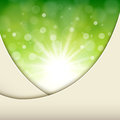 Abstract background green natural sunny vector illustration Royalty Free Stock Photos
