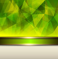 Abstract background green vector polygons texture illustration Stock Image