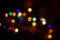 Abstract background for hanukkah multicolored bokeh the holiday Stock Photo