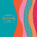 Abstract background. Happy Friendship Day