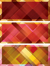 Abstract background intersected rectangles collection Stock Images