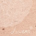 Abstract background of interwoven strands on the cardboard vector illustration Stock Photography