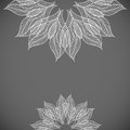 Abstract background with lacy flower vector illustration Stock Photos