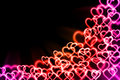 Abstract background with light heart Stock Image