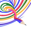 Abstract background line of colour pencil Royalty Free Stock Images