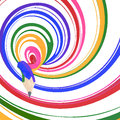 Abstract background line of colour pencil Stock Photos