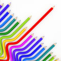 Abstract background line of colour pencil Royalty Free Stock Photos