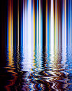 Abstract background of lomo color line and refection on surface water Royalty Free Stock Photography