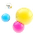 Abstract background made of cmyk colored spheres Royalty Free Stock Photos