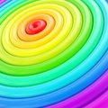 Abstract background made of glossy hoop torus rings rainbow colored Stock Images