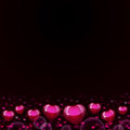 Abstract background of magenta hearts the concept valentine s day Royalty Free Stock Image