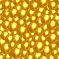 Abstract background of many golden faceted balls Royalty Free Stock Photos