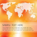 Abstract background with map of the world Royalty Free Stock Photography