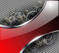 Abstract background metallic with gears vector illustration Stock Photo