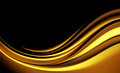 Abstract background modern design with gold color waves Royalty Free Stock Image