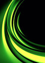 Abstract background modern design with green color waves Royalty Free Stock Image