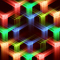 Abstract background with multi-coloured stars Royalty Free Stock Photo