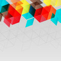 Abstract background with multicolor cubic elements