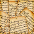 Abstract background with the music book Stock Photography