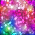 Abstract background with neon bright bokeh