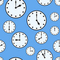 Abstract background with office clocks Royalty Free Stock Photo
