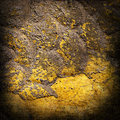 Abstract background of the old city walls of the building painted yellow paint Royalty Free Stock Image