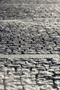 Abstract Background of Old Cobblestone Pavement Road Royalty Free Stock Photo