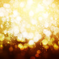 Abstract background orange shine with bokeh Stock Image