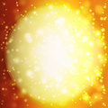 Abstract background with orange sun rays summer a magnificent burst lens flare Stock Image