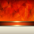 Abstract background orange vector polygons texture illustration Stock Photography