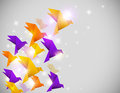 Abstract  background with origami birds Stock Images