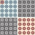 Abstract background. Ornamental seamless pattern. Geometric background. Arabic pattern. Retro vintage ornaments set. Royalty Free Stock Photo