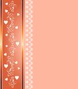 Abstract background with ornaments and hearts Stock Image