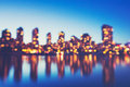 Abstract Background of Out of Focus City Lights Royalty Free Stock Photo