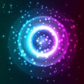Abstract background with particles vector illustration Royalty Free Stock Image