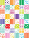 Abstract background with patchwork motives retro page layout colorful funny Royalty Free Stock Photos
